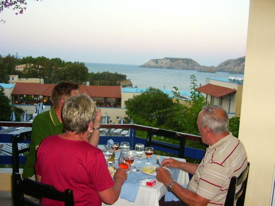 Unser Ausblick beim Abendessen Hotel Alexander House