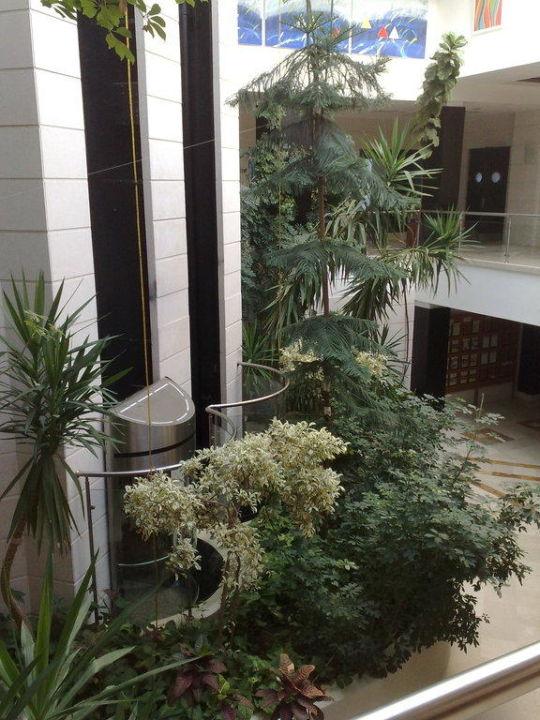 Blick von oben in den Wellnessbereich Washington Resort & SPA