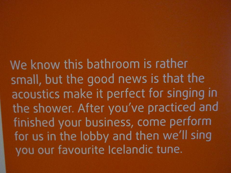 Uberall Lustige Spruche Icelandair Hotel Reykjavik Marina