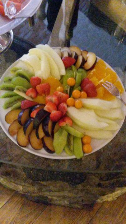 Obstteller am Frühstücksbüffet Hotel-Gasthof Zum Bach