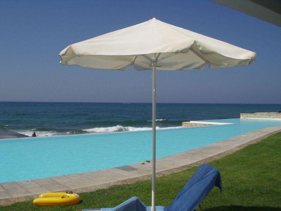 Liegewiese und Pool vor den VIP-Bungalows Grecotel LUX ME White Palace, Luxury Resort