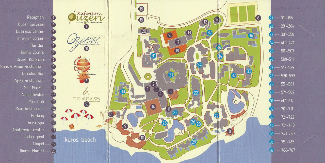 Offizielle resort map ikaros beach luxury resort spa