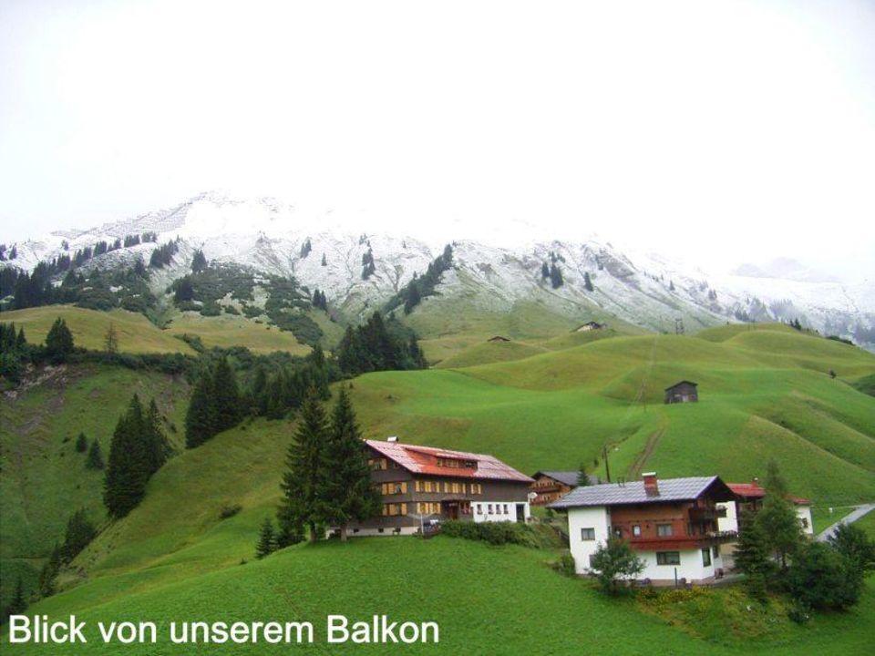Fensterausblick aus Haus Auenfeld (Neubau) Hotel Widderstein