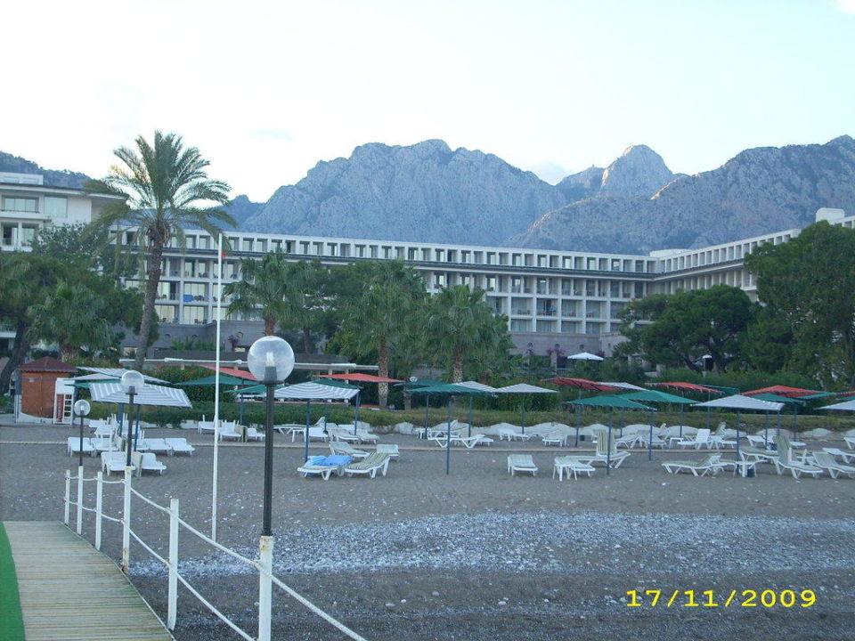 Blick zum Hotel vom Steg aus Kilikya Palace Göynük