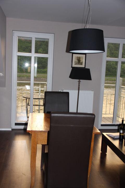 Essbereich mit Ausblick auf die Mosel Hotel Weingut Amlinger&Sohn