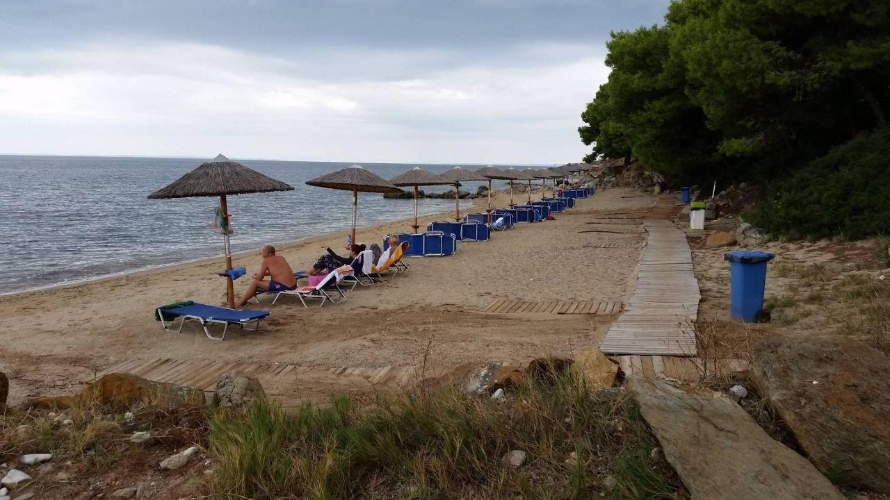 Der westliche ruhigere Strandteil Hotel Blue Dolphin