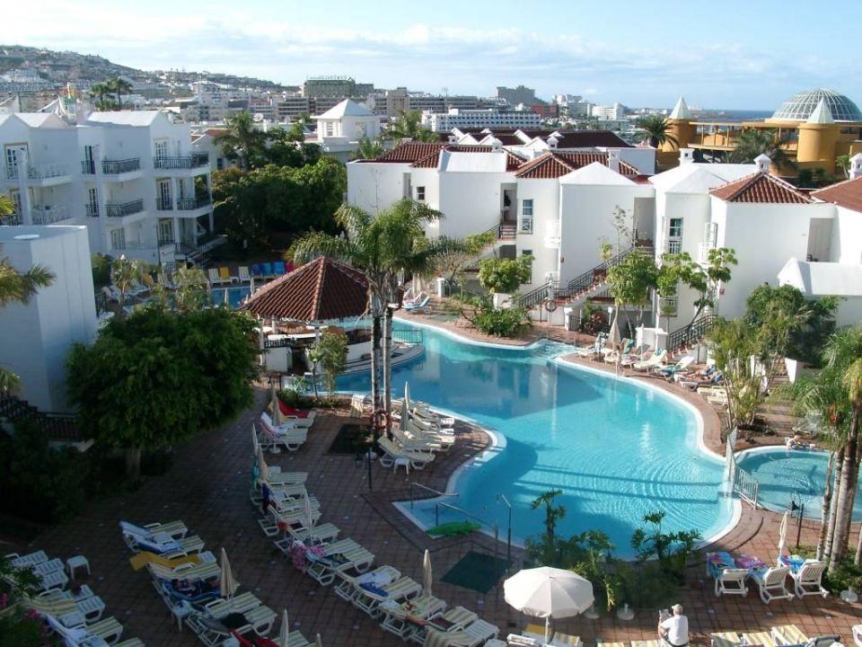 blick von der dachterrasse auf den pool hotel parque del sol costa adeje holidaycheck. Black Bedroom Furniture Sets. Home Design Ideas