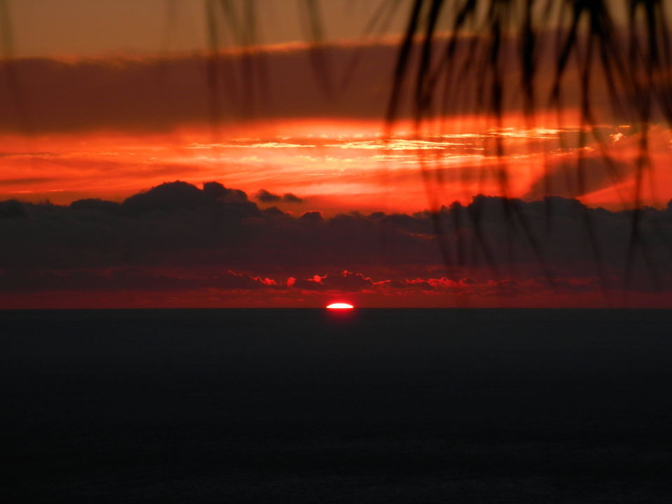 Sonnenuntergang von der Terrasse Casa Petra