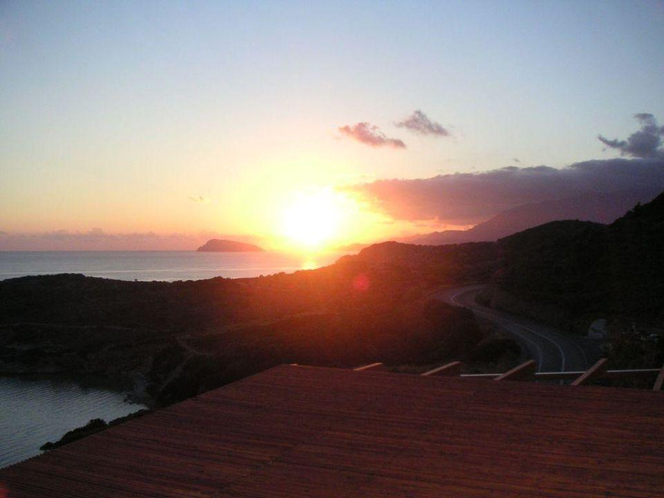 Sonnenaufgang vom Balkon aus fotografiert Hotel Mistral Mare