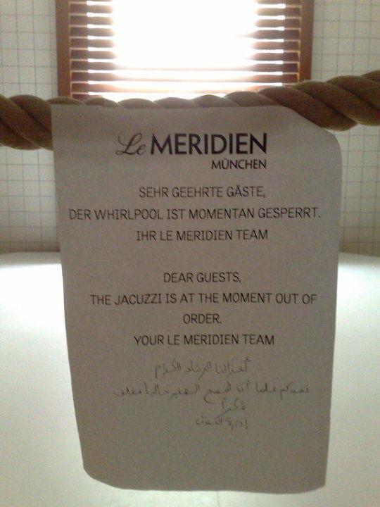 Gesperrter Pool Hotel Le Meridien München