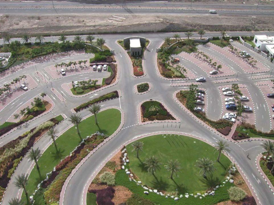 Meridien Al Aqua von Dachterrasse Hotel Le Meridien Al Aqah Beach Resort