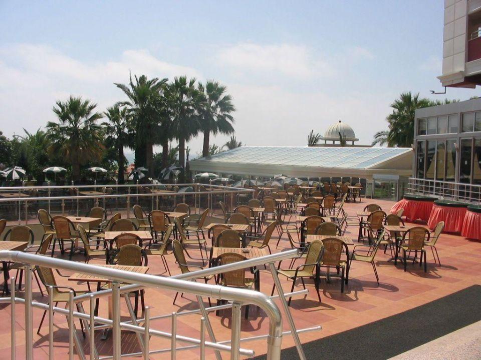 Aussenrestaurant/-terrasse des Hane Hotel Hane Hotel