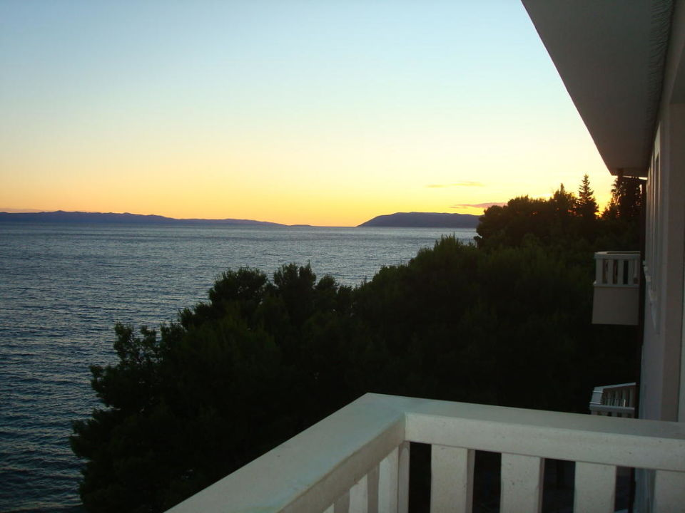 Sonnenuntergang vom Balkon Hotel Tamaris