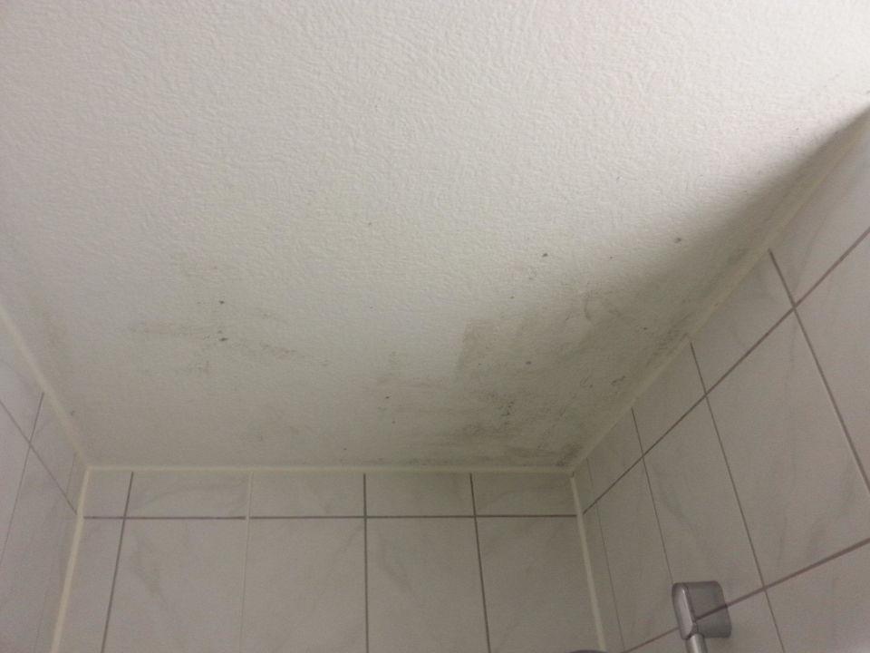 Schimmel an der Decke über der Dusche\