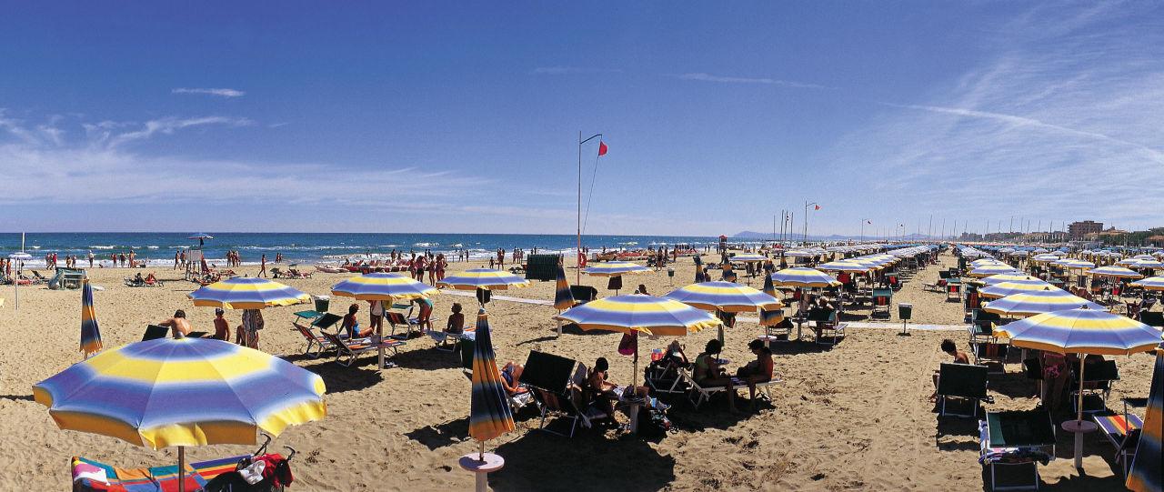 Vista spiaggia di Viserbella Hotel Fra i Pini