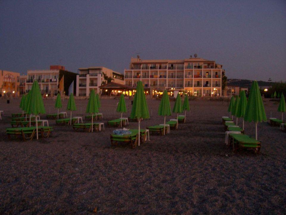 Abendstimmung am Strand Golden Beach Rethymnon