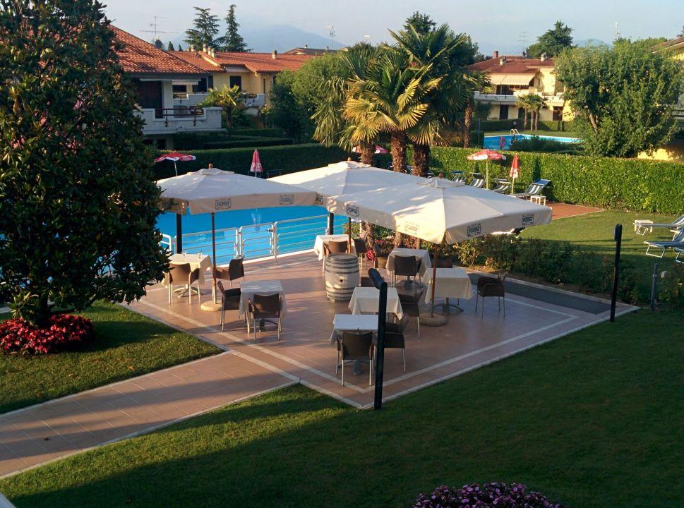 Blick vom Balkon  Hotel Porto Azzurro