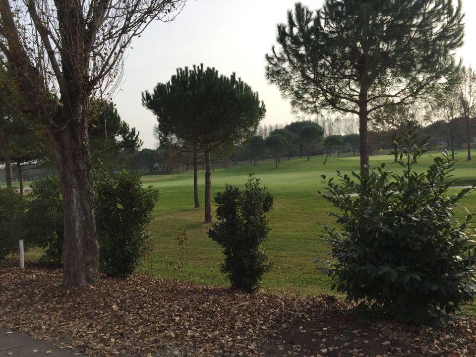 Aussicht vom Balkon Hotel Golf Inn