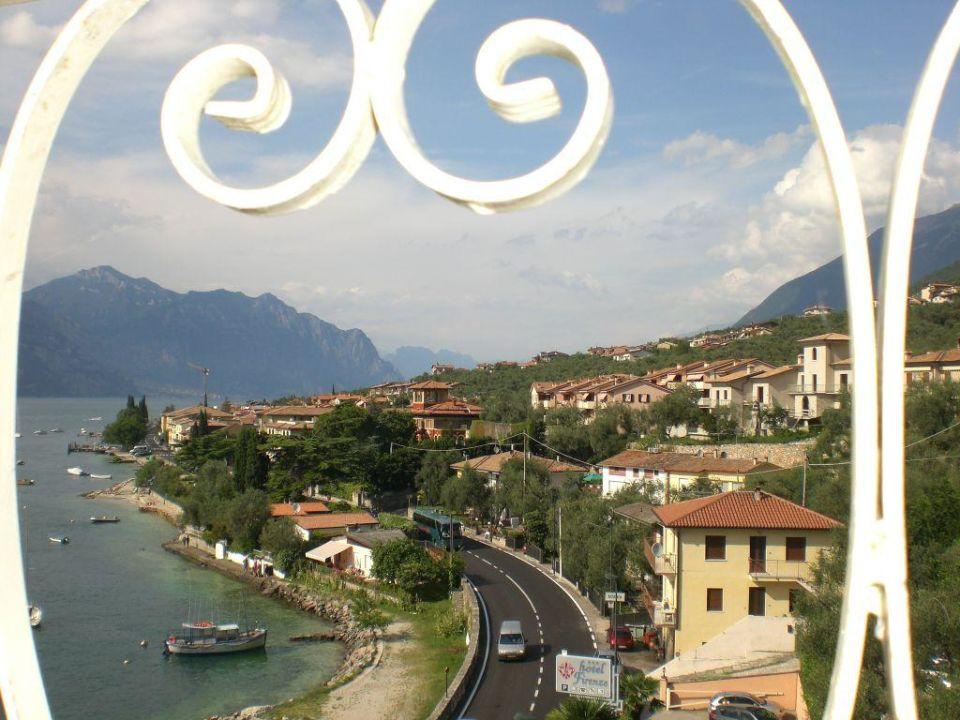 Aussicht vom Balkon unseres Zimmers Hotel Firenze