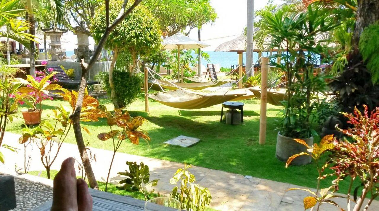 Blick in den Garten Hotel Tauch Terminal Resort Tulamben