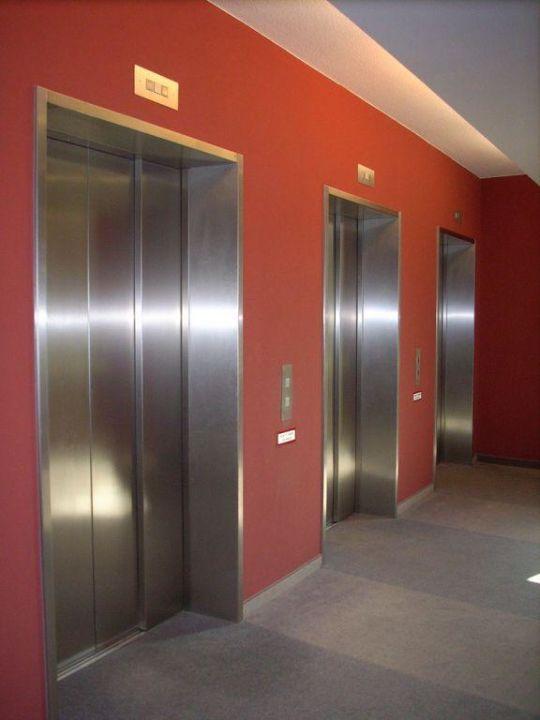 Die Aufzüge auf den Gängen Hotel Novotel München Messe