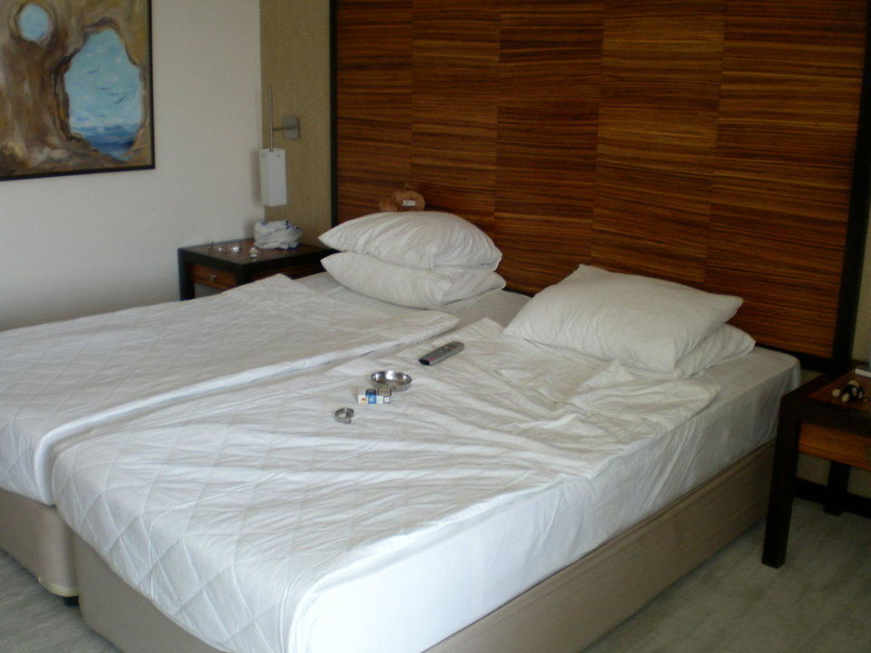Die Betten haben wir zusammen geschoben, war ok Hotel Alara Star