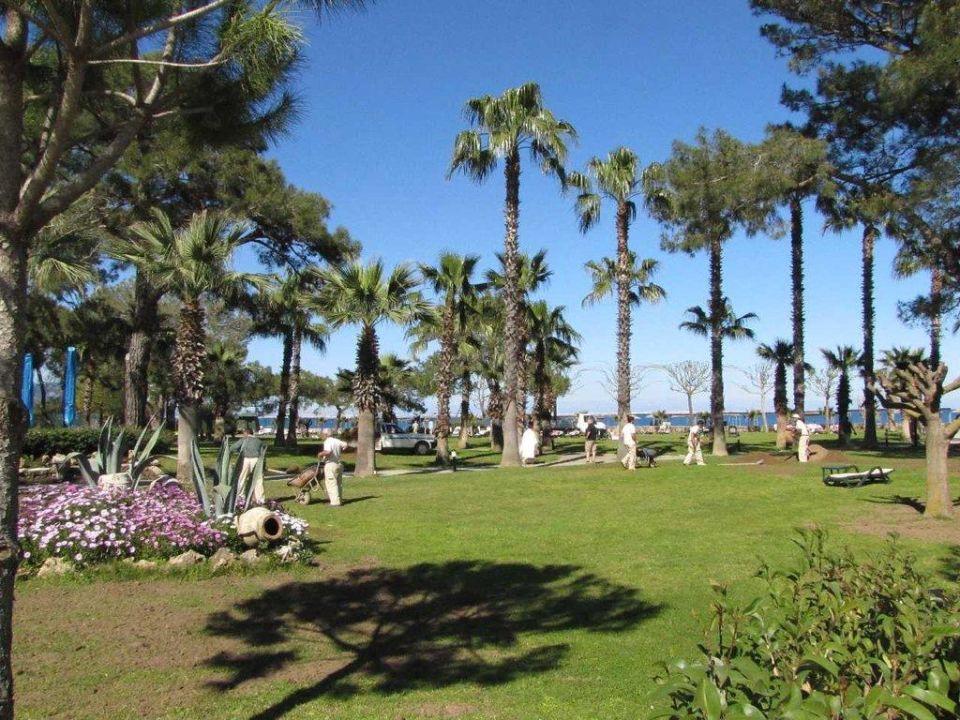 Liegewiese zwischen Gartenrestaurant und Strand Paloma Foresta Resort