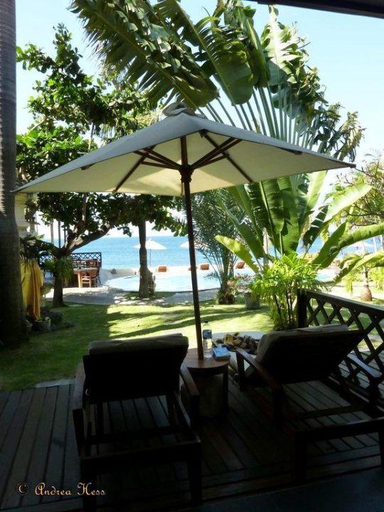 Blick vom Zimmer/Terrasse Hotel Tauch Terminal Resort Tulamben