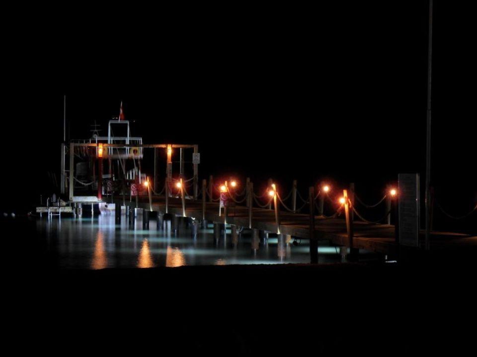 Hoteleigener Steg bei Nacht Bodrum Imperial Hotel