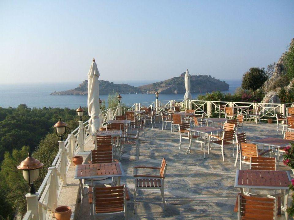 Blick von der Pool Bar über die Bucht Castle Resort & Spa Hotel Sarigerme