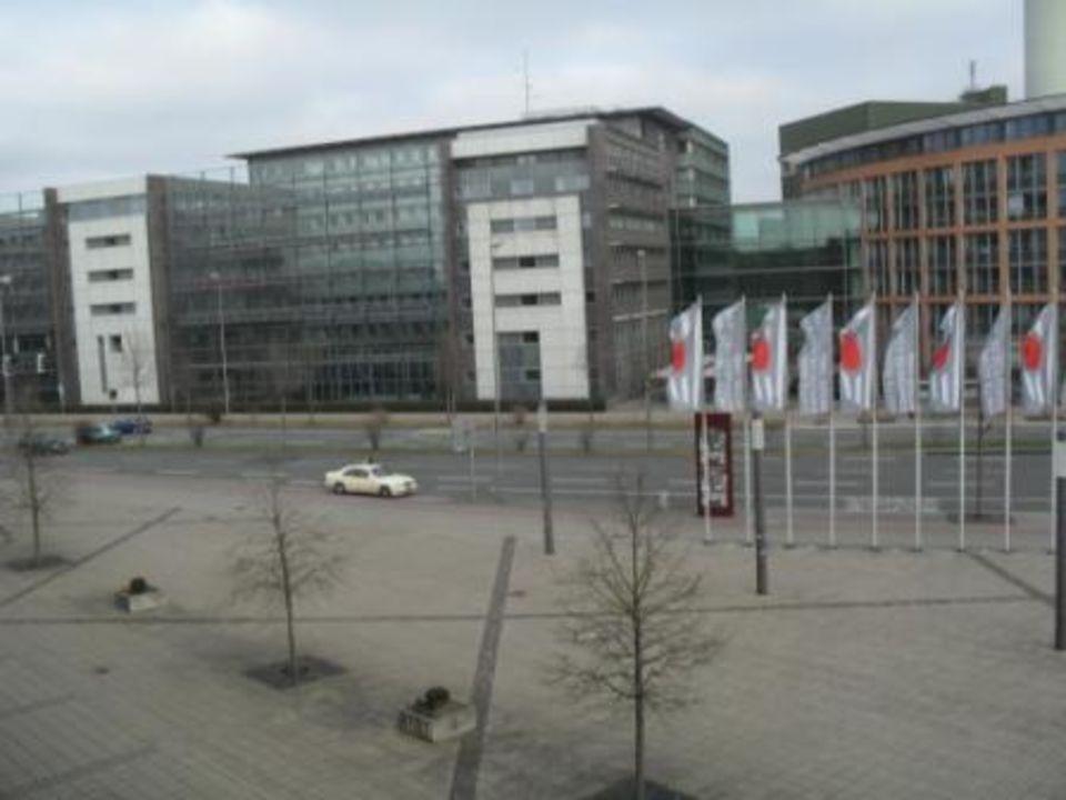 Ausblick zur Straße TRYP Münster Kongresshotel
