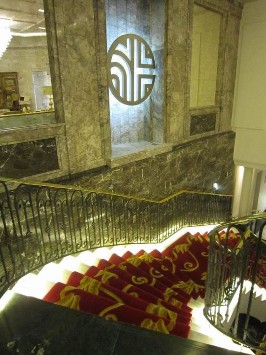 Staircase to the restaurant Hotel NH Collection Madrid Paseo del Prado