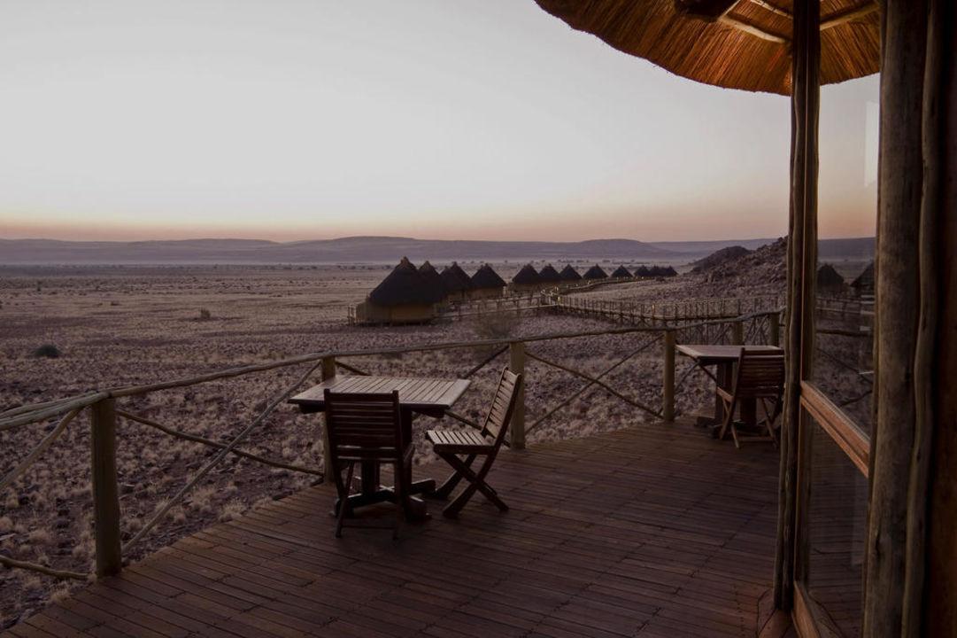 Blick auf die Dune Chalets Hotel Sossus Dune Lodge