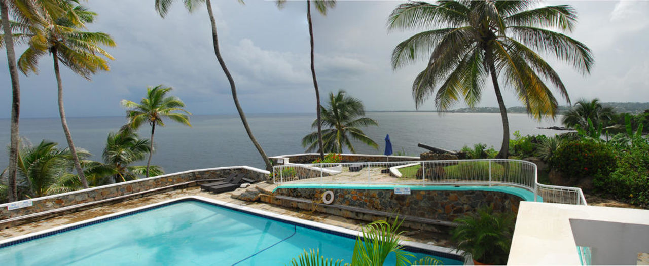 View From Terrace Over Swimming Pool Hotel Blue Haven Scarborough Holidaycheck Trinidad