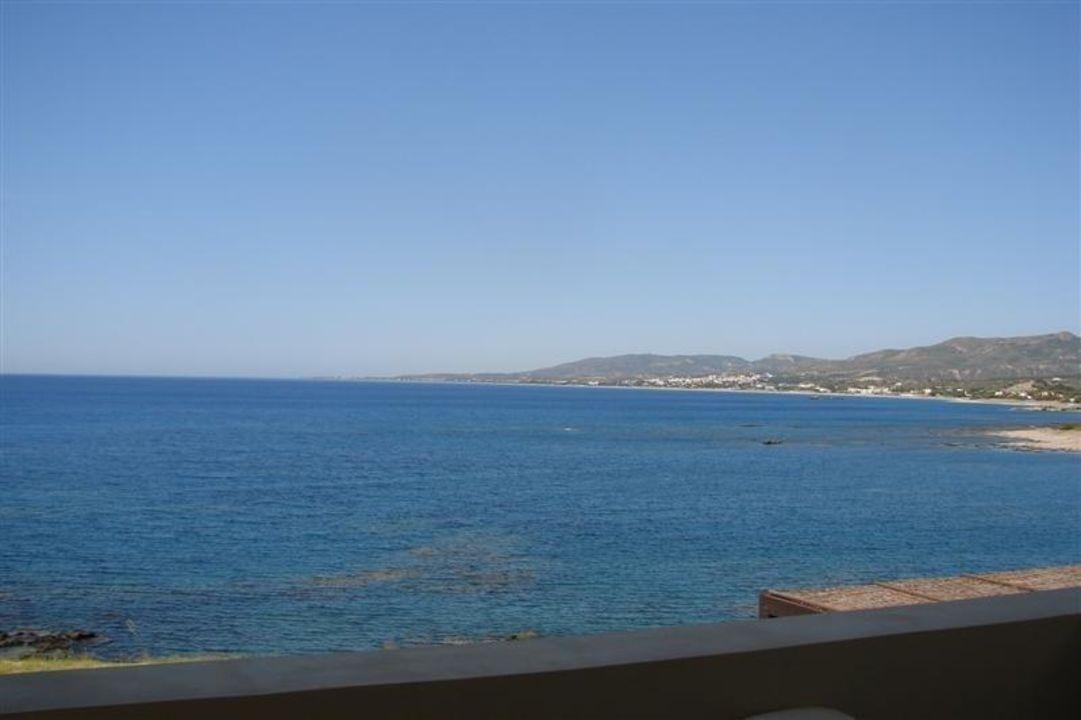 Blick vom Balkon unserer Villa Hotel Al Mare Villas