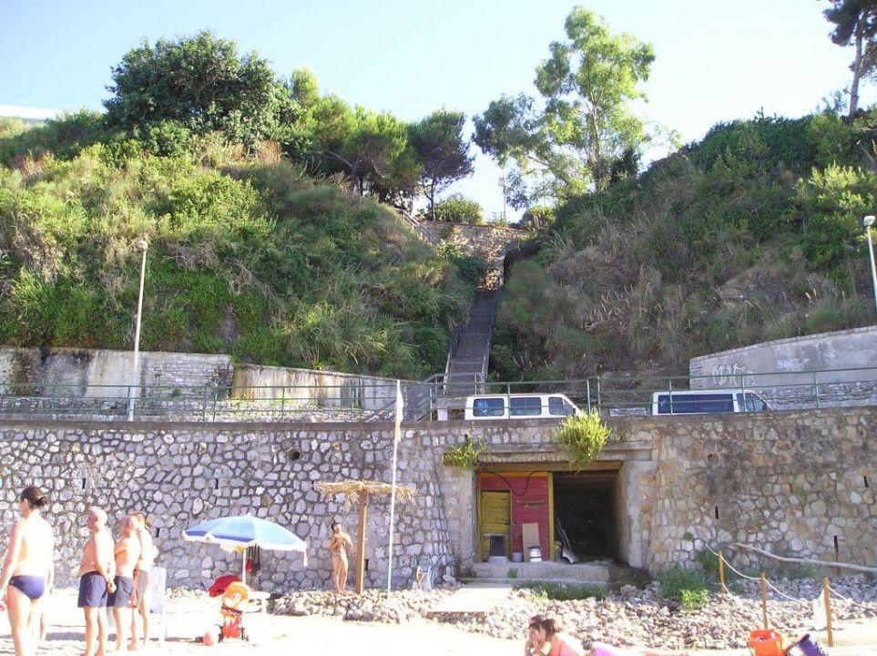 Treppe nach oben Hotel Santa Lucia e Le Sabbie d'Oro