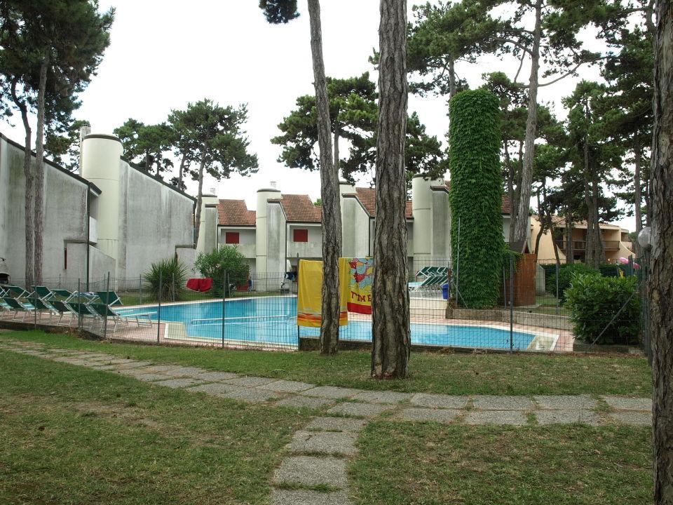 Gartenanlage mit Pool Villaggio Dei Fiori Lignano