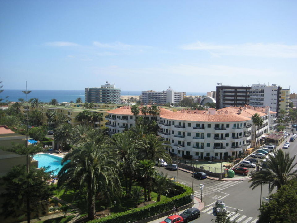 Ausblick vom Balkon in Richtung Meer Abora Buenaventura by Lopesan Hotels