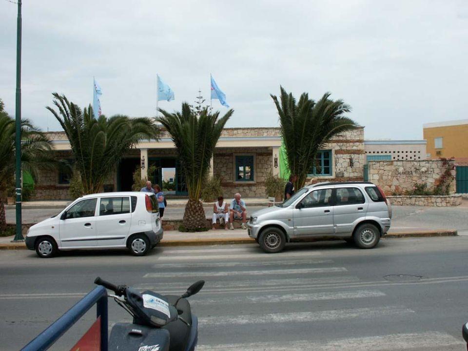 Hoteleingang Silva Beach Hotel