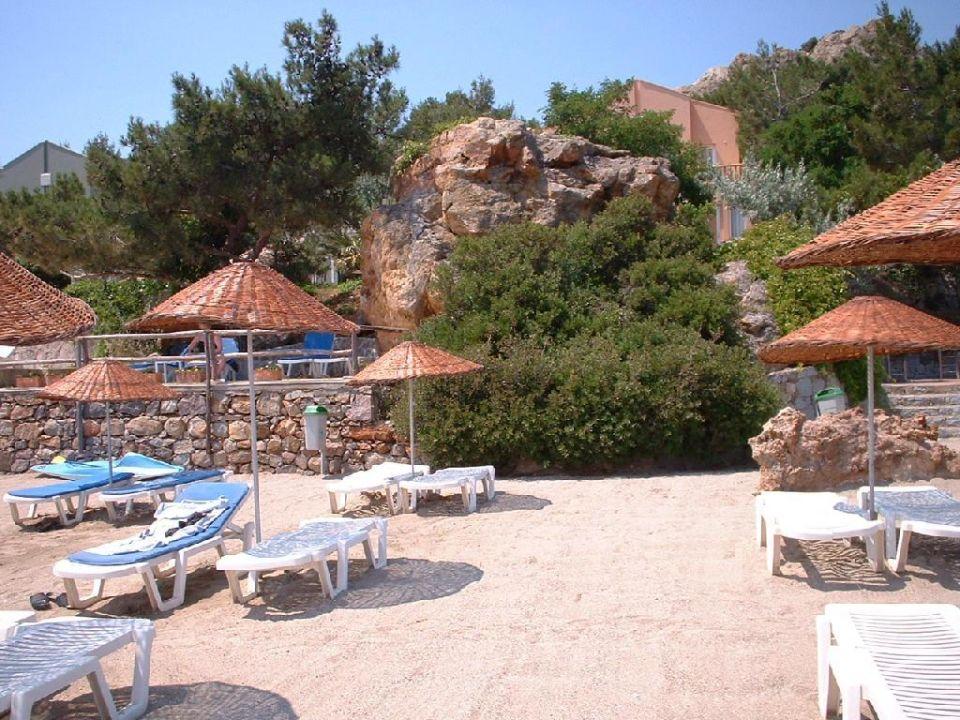 Hotel Anlage vom Meer gesehen Hotel Ayvalik Beach