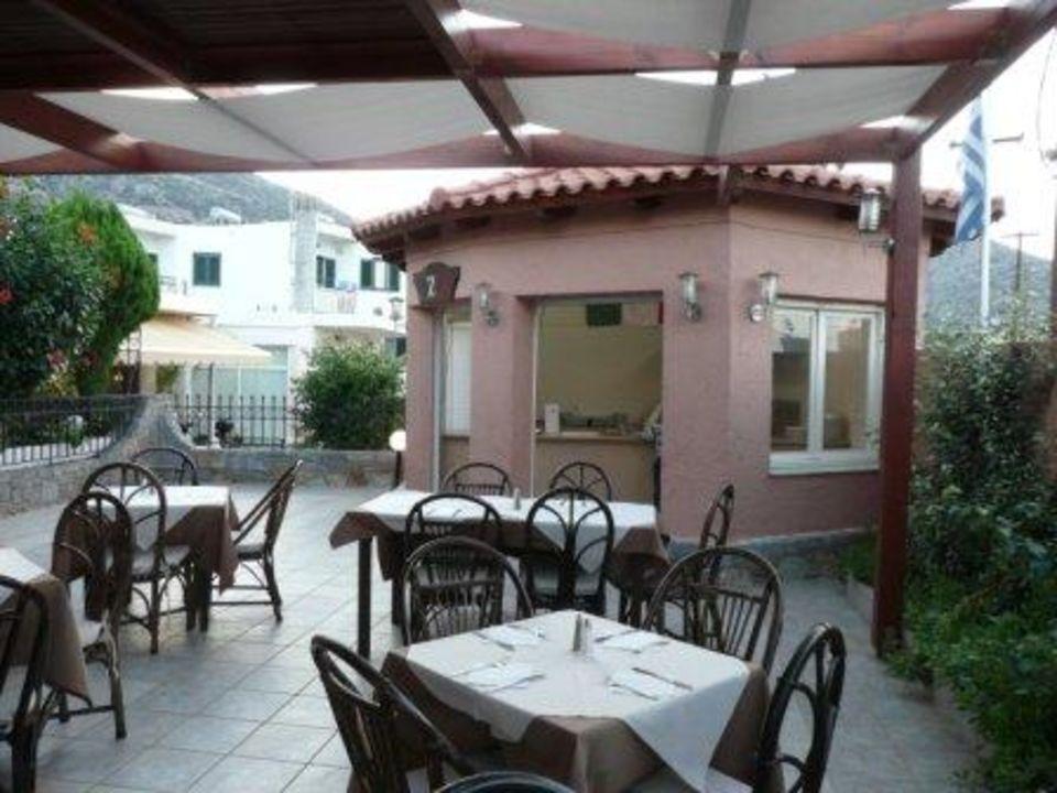 Terrasse mit Pizzeria Eurohotel Katrin Hotel & Bungalows