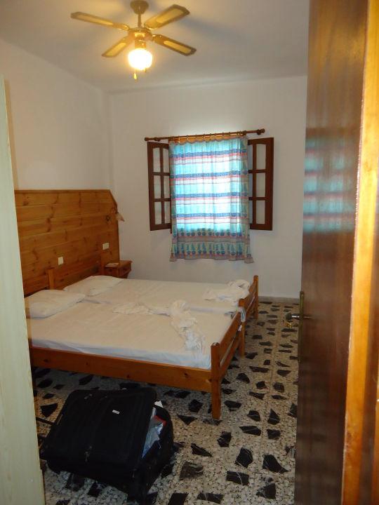 Sypialnia Spiros & Soula Apartments
