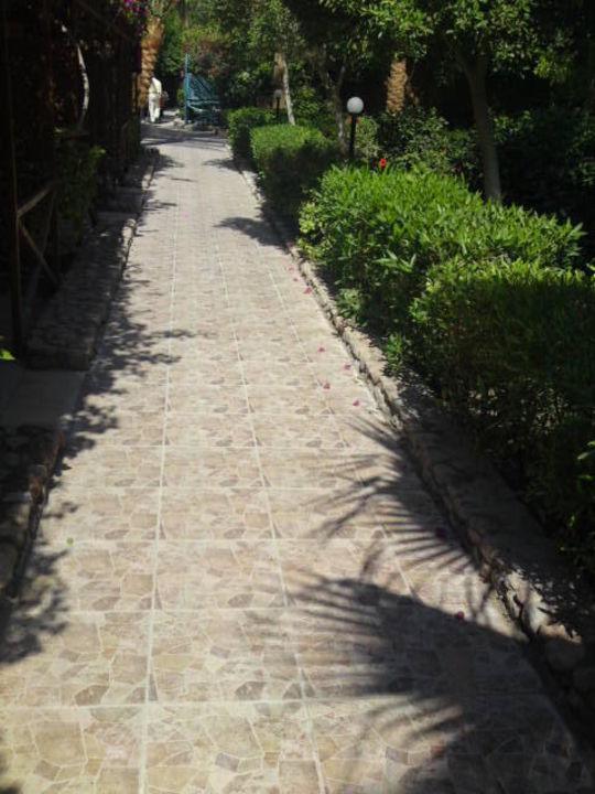 Neu gefliester Weg durch die Anlage Giftun Azur Resort