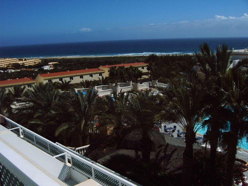Blick vom Zimmer auf's Meer Hotel Stella Jandia  (geschlossen)