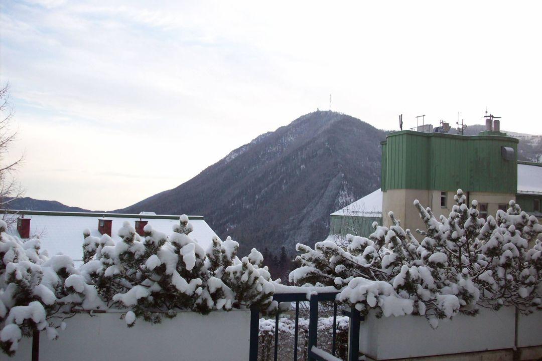 Ausblick aus unsere Terasse Hotel Panhans