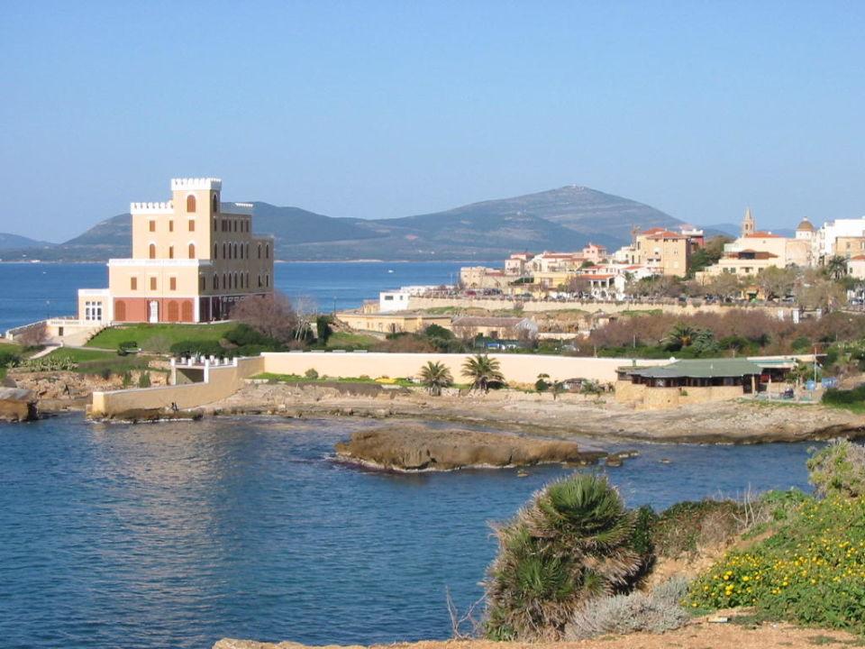 Blick auf Alghero Villa Piras