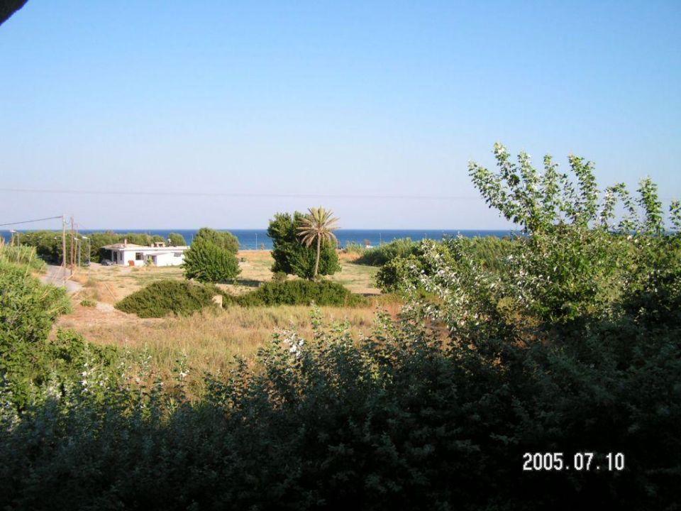 Blick aus dem Hotelzimmer Afandou Blu Hotel