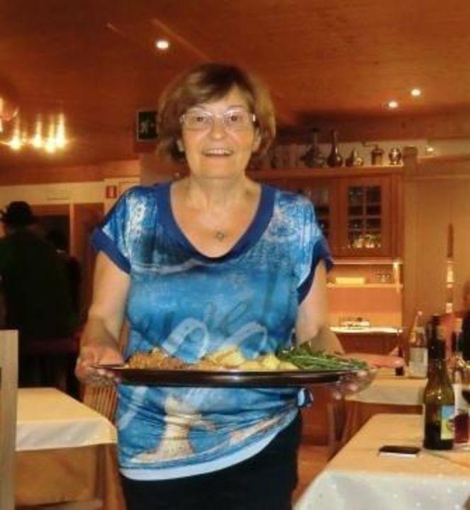 Maria, die liebe Seele des Hauses. Pension Brunner