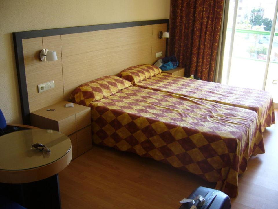 Doppelbett im Studio Zafiro Tropic