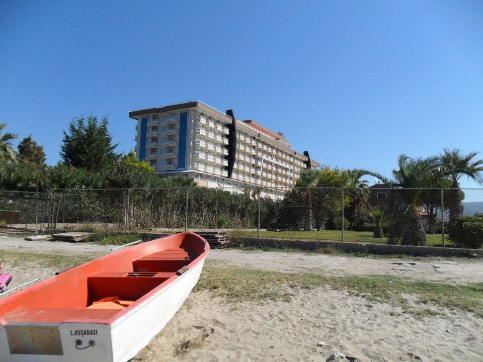 Hotel vom Strand aus Hotel Ephesia